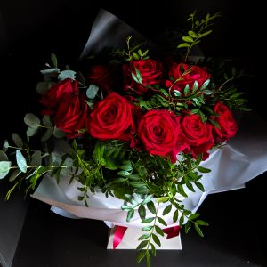 Red Rose Bouquet by Field Day Flowers